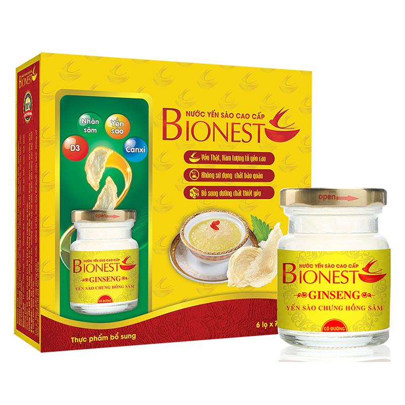 Yến sào Bionest Ginseng hồng sâm cao cấp ( hộp tiết kiệm )
