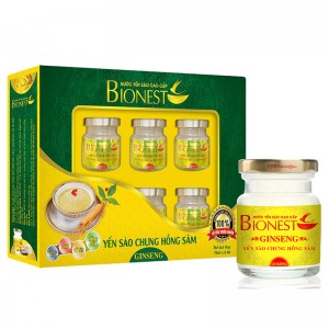 Yến sào Bionest Ginseng hồng sâm cao cấp - hộp quà tặng 6lọ