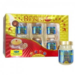 Hộp Yến sào Bionest Gold đường isomalt cao cấp - hộp quà tặng 6 lọ